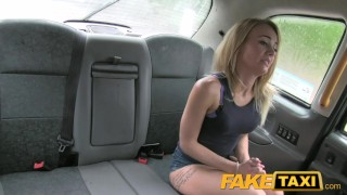 Great tight ass shaved faketaxi pussy and of boobs
