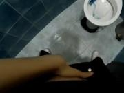 Laura Fatalle - POV - Teen get caught masturbating in public toilet
