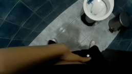 Laura Fatalle - POV - Teen get caught masturbating in public toilet