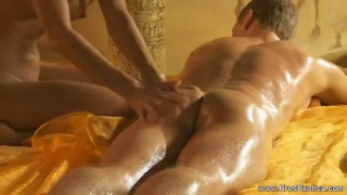 Using hot huge a your cock oil for erotic body