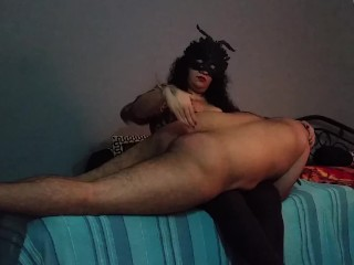 BBW Mistress Makali spanks a naughty little boy
