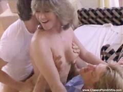 Vintage Threesome Classic MILF Sex