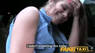 FakeTaxi Lady wants to see drivers big cock  big-cock outdoor outside point-of-view blowjob hot bald-pussy camera faketaxi young spycam czech dogging teenager prague