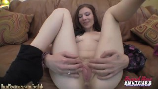 Amateur girl Jamie fucked POV on casting couch at BrandNewAmateurs