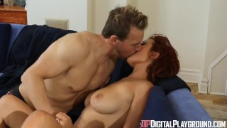 Preview 3 of Digital Playground- Busty Redhead Enjoys Pussy Rubbing