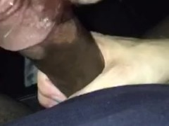 I sucked off a bbc after I let him fuck me in the back seat of his car