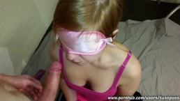 Blindfolded Submissive Girlfriend Gets Mouthfucked