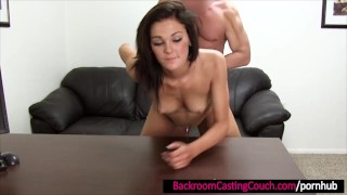 Gorgeous First Timer Ass Fucked and Cum Covered