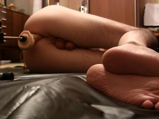 Fuck-Machine fucked my ass, Realistic Cock (Part1)