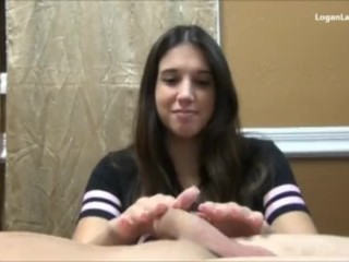 Young Big Butt Anal Logan Lace Handjob, Handjob Pornstar Teen Pov
