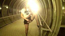 Marta on night street