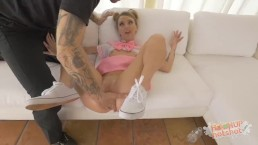 Blonde Babygirl Puke Fucked and Loves It