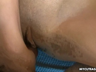 Super tight Asian bitch getting a cock to fuck