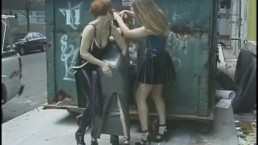 Three kinky lesbians enjoy having some naughty fun in public