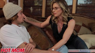 America milf horny sits friend's chase naughty face her son's on cory cory hot