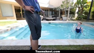 CFNMTeens - Pale Redhead Fucked By The Swimming Coach