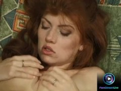 Two hotties shares a dong thrusting on their wet slits
