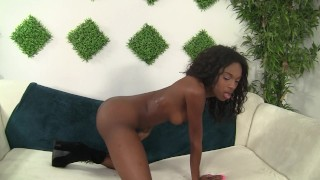 Armani Manae looking sexy in her club outfit gets her pussy drilled by BBC