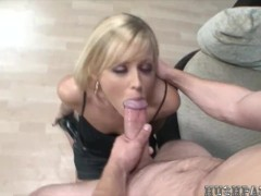 Hot Blonde takes Biggest cock!