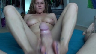 Ashley's First Footjob Video Ever