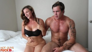 Tatted Hunk Fucks His Fit Girl Friend. **HARD** Petite reverse