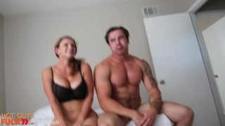 Tatted Hunk Fucks His Fit Girl Friend. **HARD** Step tiny