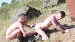 Hard outdoor fuck action with german men bareback