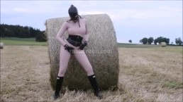 Countryside - latex between bales of straw video