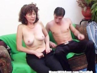 So How Your Mom Brunette Hairy Pussy Mature Couch Fucked Young Cock, Hardcore Mature Milf Old-Young