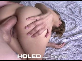 HOLED - Sexy step-sister Rebel Lynn's ass fucked by step-brother