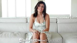 MyVeryFirstTime - Raven Orion's first ever porn scene