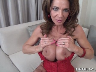 Teen Oral Cum Fucking, Sexy MILF DeauxmA fucks herself. Big Tits Brunette Masturbation MILF Pornstar
