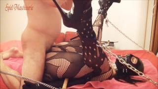 Chained slave slut fuck part 2 Screaming cumming POV
