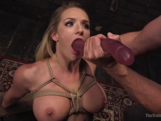 Ice Use In Bondage Fucking, Deep Throat Training Cali Carter