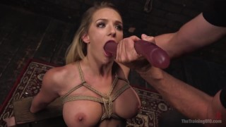 Deep cali throat carter training rough blonde