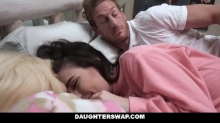 DaughterSwap - Daughters Fucked During Sleepover  blonde cumshot foursome orgy hardcore smalltits brunette shaved facialize bigcock group facial daughterswap dad daughter father