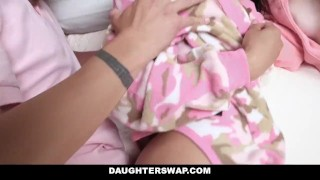 DaughterSwap - Daughters Fucked During Sleepover  dad blonde cumshot foursome orgy hardcore smalltits brunette daughter shaved daughterswap facialize bigcock group facial father