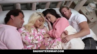 DaughterSwap - Daughters Fucked During Sleepover orgy hardcore dad father blonde shaved cumshot daughterswap foursome smalltits brunette daughter facialize bigcock group facial
