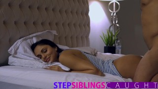 Sleeping sister gets pussy pounded and facial hard fast fuck very young hardcore faking blowjob riding babe little sister ariana marie cumshot step sister pov step brother big dick petite facial