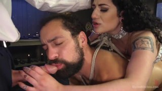Arabelle's Basement Cuckold Debasement  huge tits domination 3some femdom divinebitches hardcore bisexual kink big tits blowjob divine bitches big boobs bdsm brunette tattoos natural tits fetish humiliation