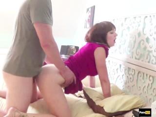 Step-mom teach step-son how to fuck her ass #anal creampie #sodomy