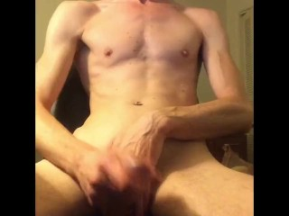 Twink jacking off big dick
