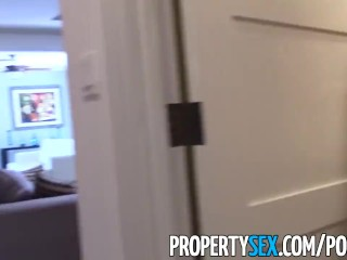PropertySex - Young highly motivated real estate agent wild sex with client
