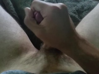 Jerking off with some lube