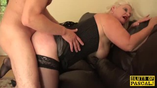 Dominated roughsex british with chubby sub doggystyle lingerie
