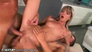 Doris Ivy DP and Mouth Cum