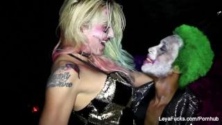 Harley the quinn bbc joker's takes leya black cumshot