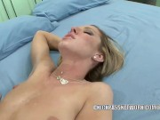 Horny coed Nichole Taylor gets pounded with a huge cock