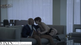 By vixen daniels beautiful redhead daddy bree fucked sugar blonde lingerie
