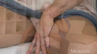 MOM Tit wank heaven with plump milf with huge natural tits  big-tits milf huge-tits momxxx mom titty wank thick big-boobs female-friendly oiled czech mother romantic udders for women thick milf